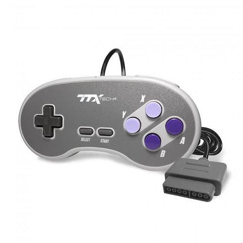 Control alambrico para SNES Edicion Super Nintendo TTX Tech