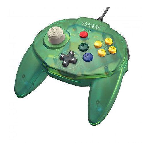 Control Tritube64 para Nintendo 64 N64 Retro-bit Verde