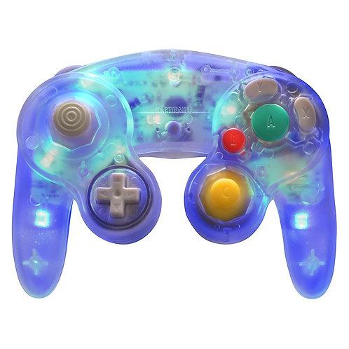 Control estilo GameCube para PC Alambrico con LED azul Retrolink