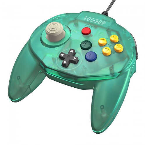 Control Tritube64 para Nintendo 64 N64 Retro-bit Verde helado