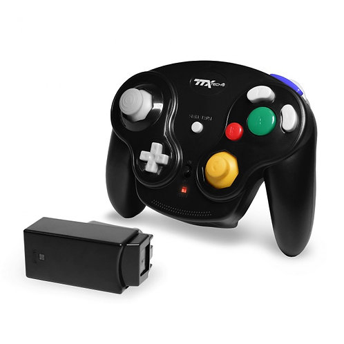 Control inalambrico para GameCube Wavedash Wireless Negro Tecknogame