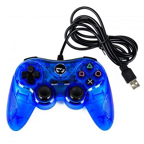 Control alambrico USB para PS3 y PC Azul TTX Tech