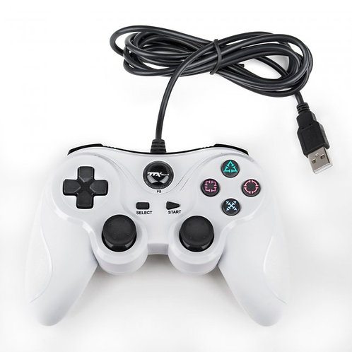 Control alambrico USB para PS3 y PC Blanco TTX Tech
