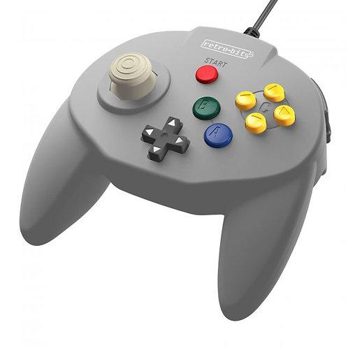 Control Tritube64 para Nintendo 64 N64 Retro-bit Gris