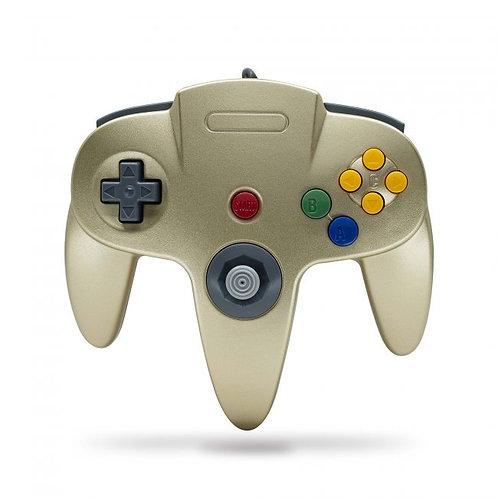 Control para Nintendo 64 N64 Oro Tecknogame
