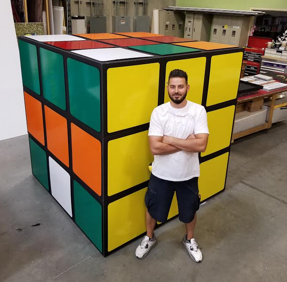 6' x 6' Rubiks cube