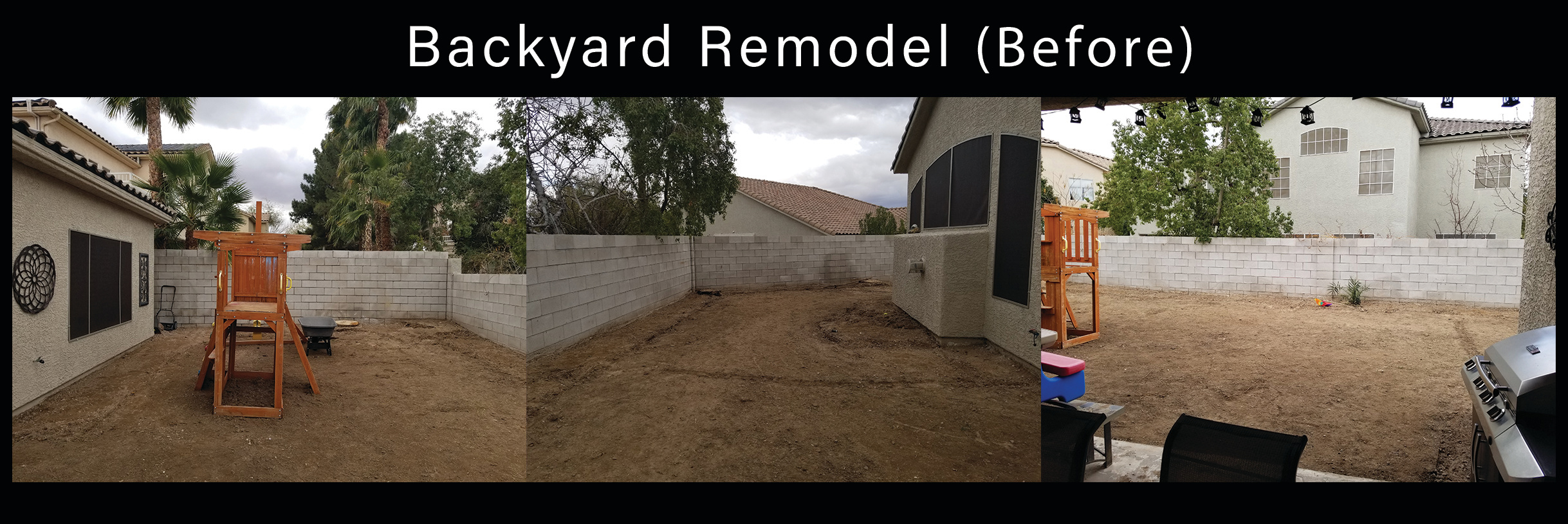 backyard remodel Before