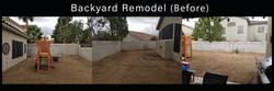 backyard remodel Before