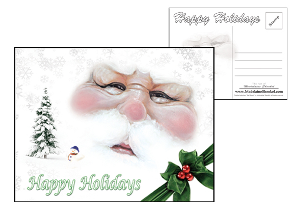 Artist Holiday Postcard