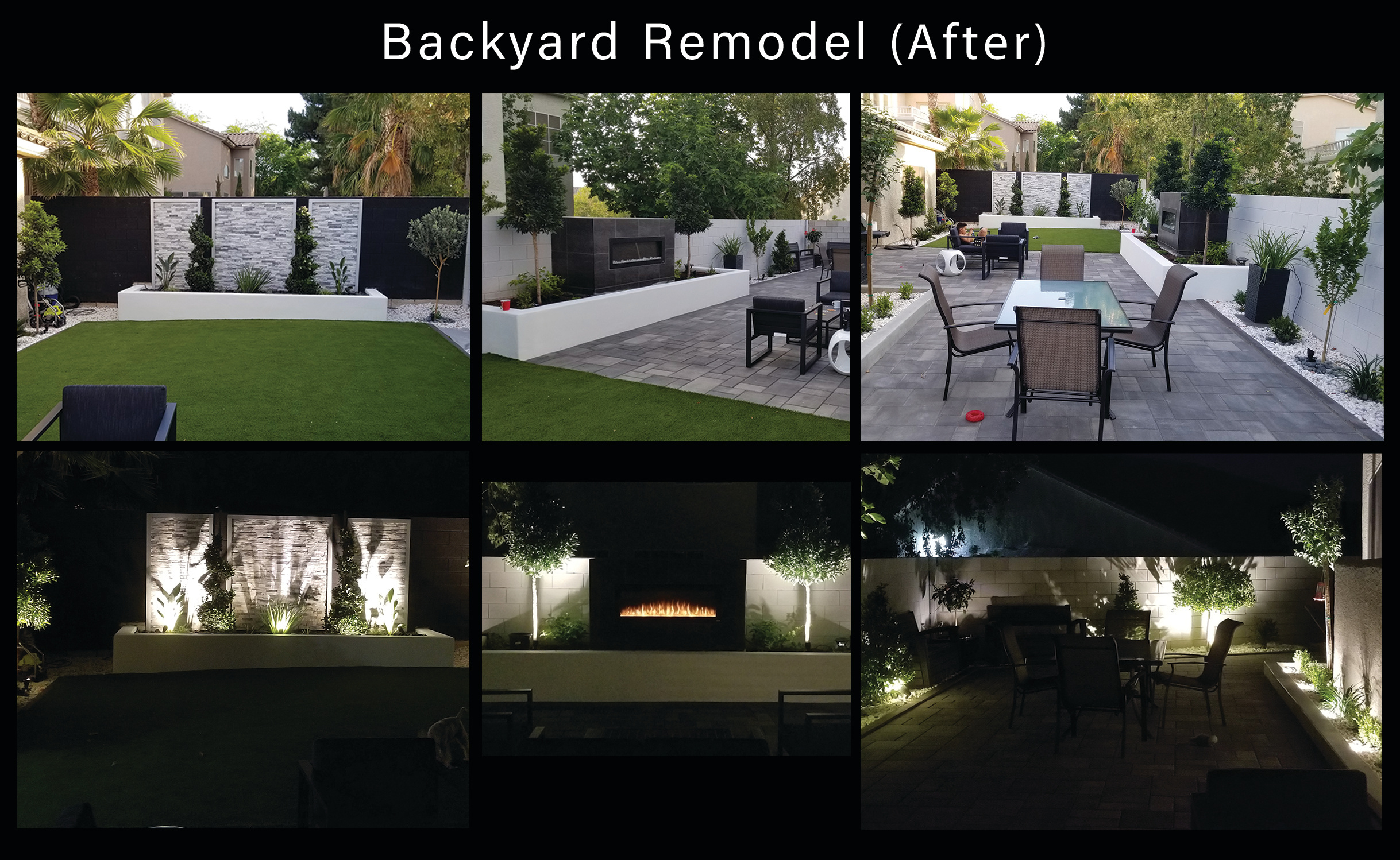 Backyard remodel After