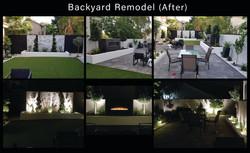 Backyard remodel After