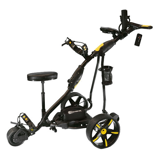 Electric Golf Cart Black/Yellow at Grip On Golf Windsor