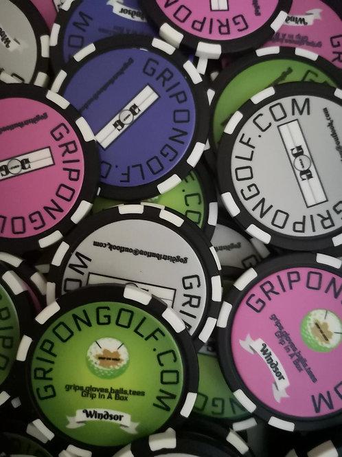 BALL MARKER Poker Chip Style