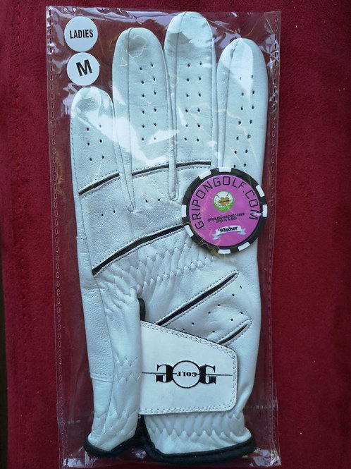 Ladies Golf Glove Leather Sheep Skin by Grip On Golf
