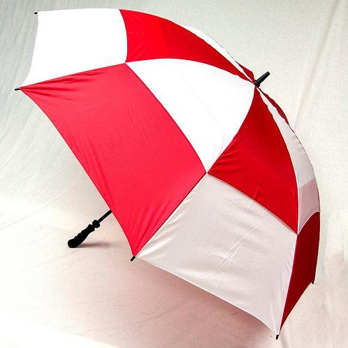 68 Inch dual canopy UMBRELLA  (red/white)