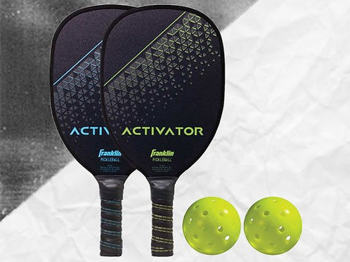 ACTIVATOR 2 PLAYER WOOD PADDLE & BALL SET