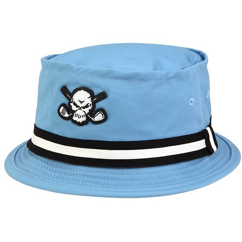 Tattoo Premium Bucket Golf Hat w/ Skull (Blue)