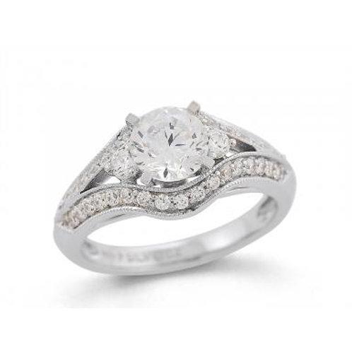 Cushella 1.00CTW White Gold Bridal Ring