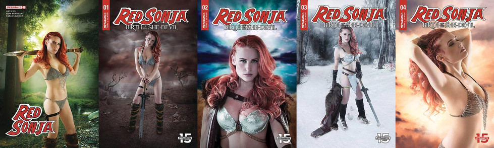 Red Sonja Dynamite Comics Covers