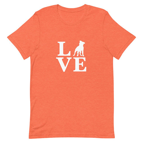 Bull Terrier Love T-Shirt - Adult (Multiple Colors Available)