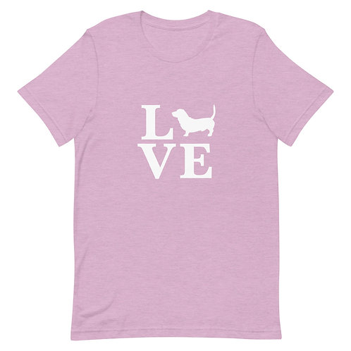 Basset Hound Love T-Shirt - Adult (Multiple Colors Available)