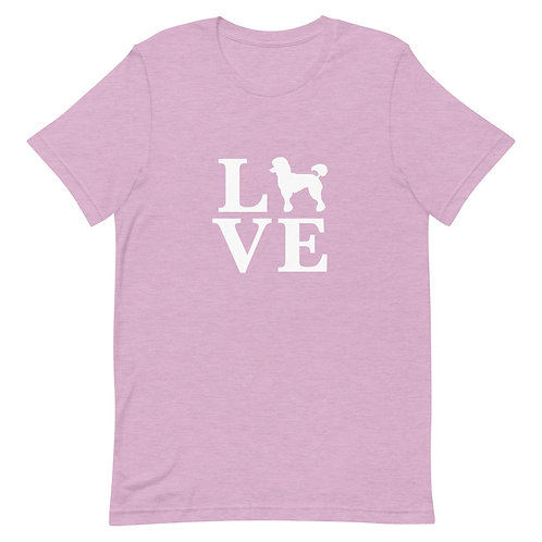 Poodle Love T-Shirt - Adult (Multiple Colors Available)