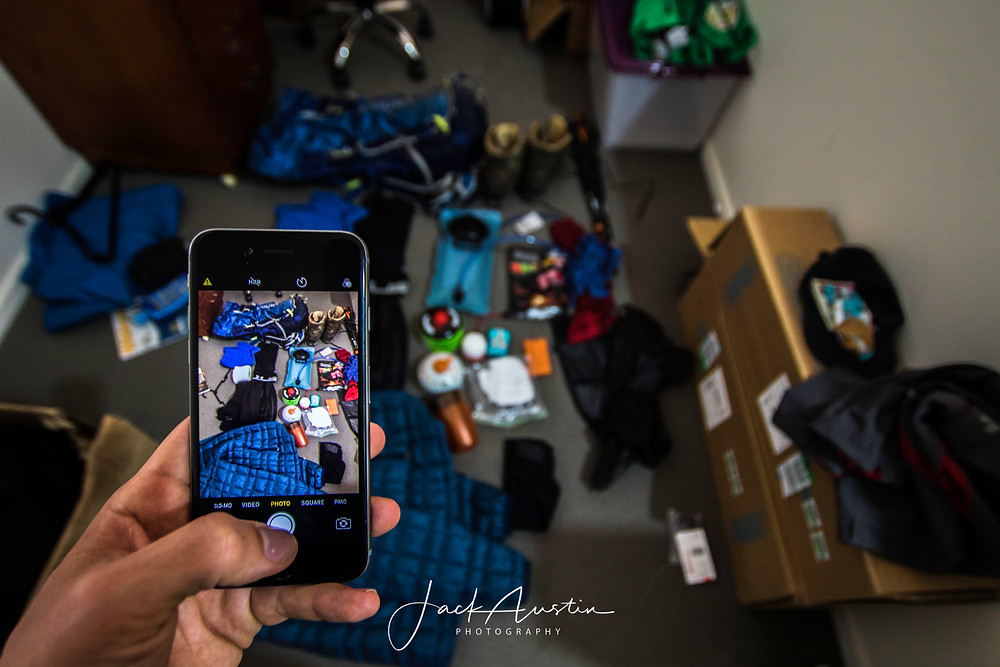 Taking photos of your gear can make organising a lot simpler!