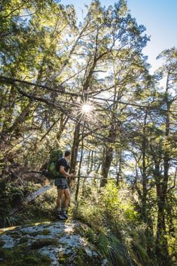 Climbing to Sugarloaf Pass