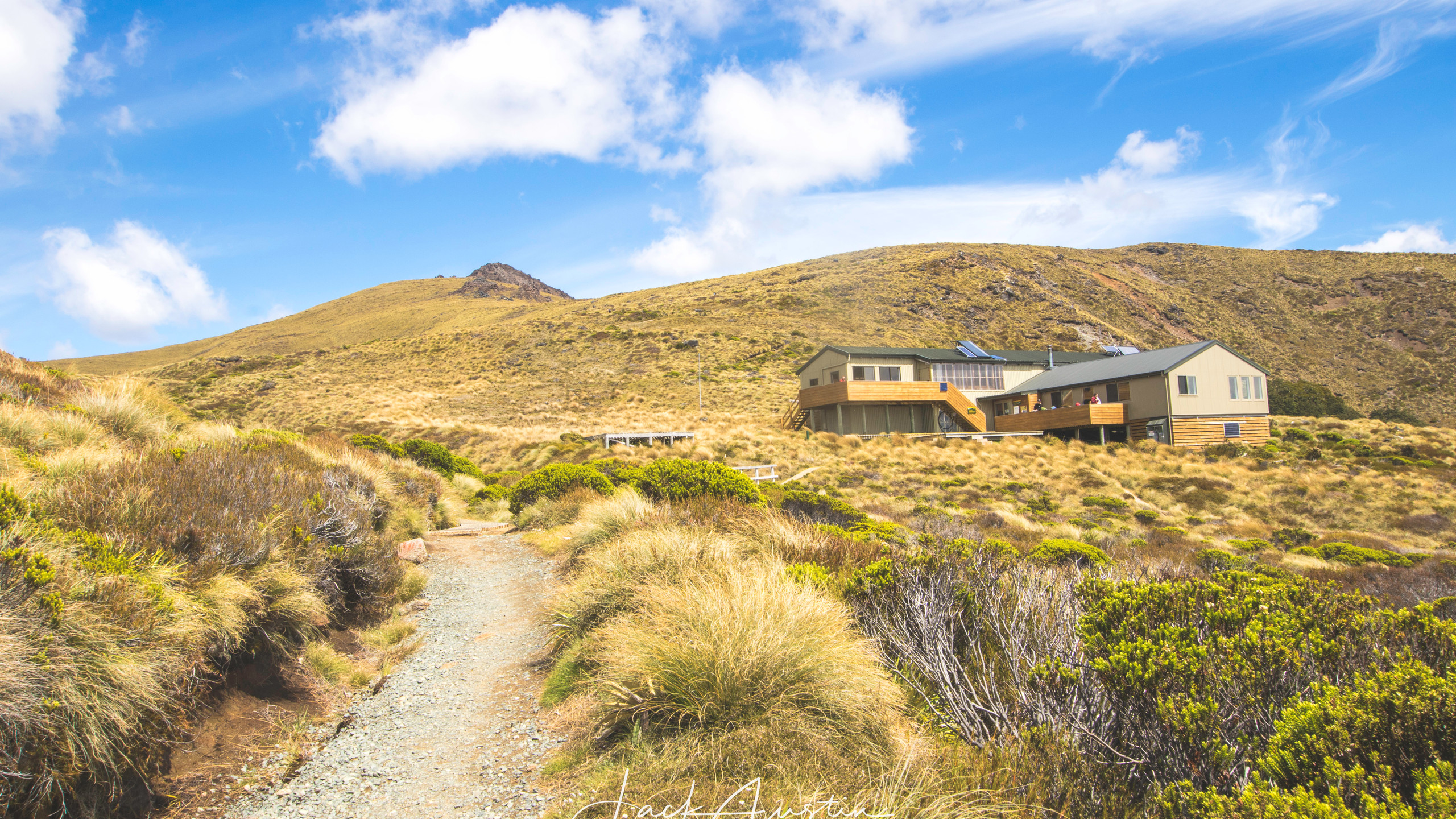 The track winding up to Luxmore hut