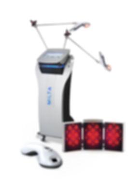 L'application du MiltaDerm, appareil de régénération tissulaire par photo-émission, est alliée de la cryothérapie MyCryoSlim