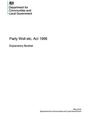 Party Wall Guide from Government