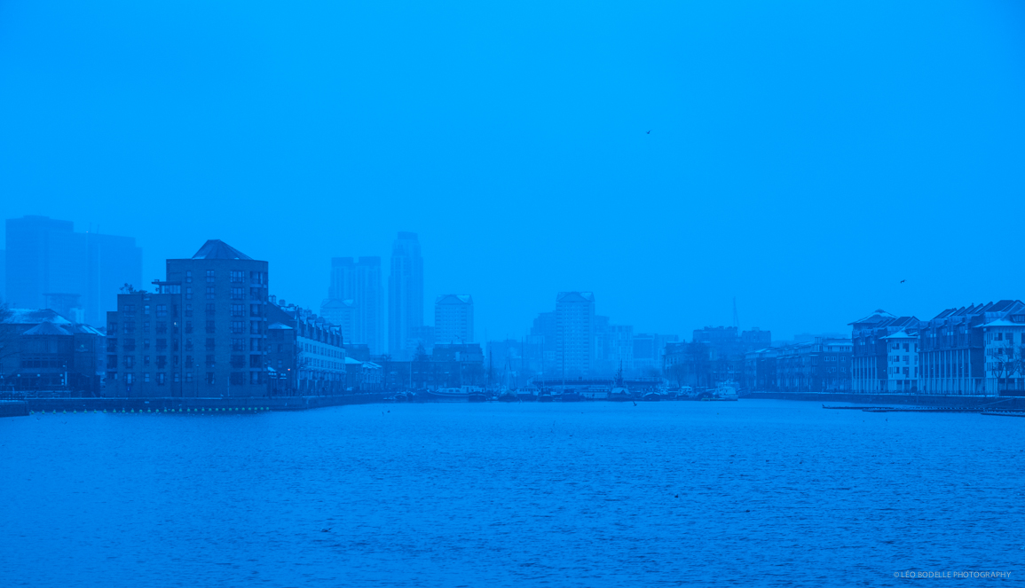 GREENLAND DOCK IN BLUE