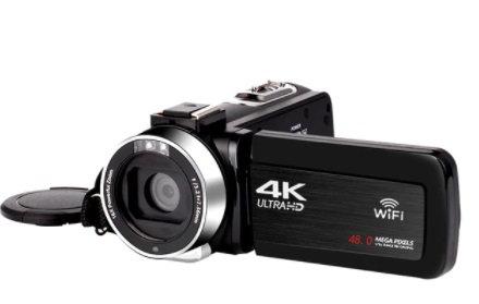 KOMERY 48MP videokamera med wifi + ekstrautstyr