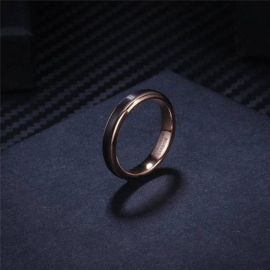 Soul Men svart Tungsten Carbide ring