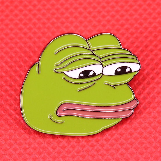 Trist Pepe meme-pin