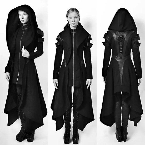 Lang goth-jakke - kvinne