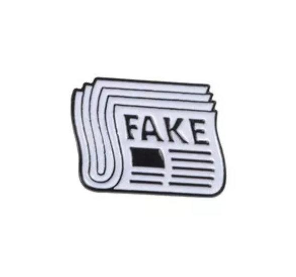 Fake-news pin