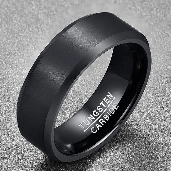 Svart Tungsten ring