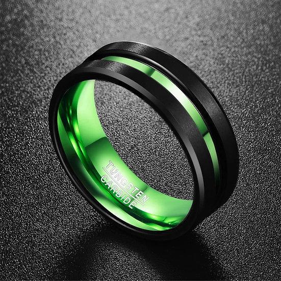 Svart Tungsten med grønn innside og midtlinje