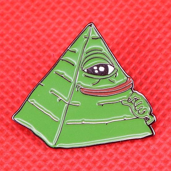 Illuminati-Pepe meme-pin