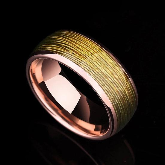Saya Tungsten ring med gul vaier