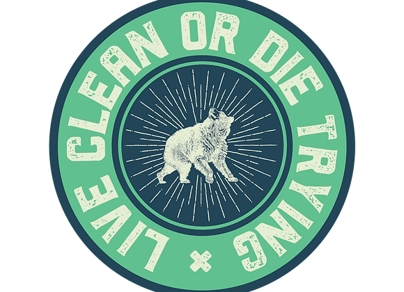 Live Clean Sticker
