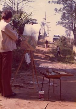 Gavira pintando