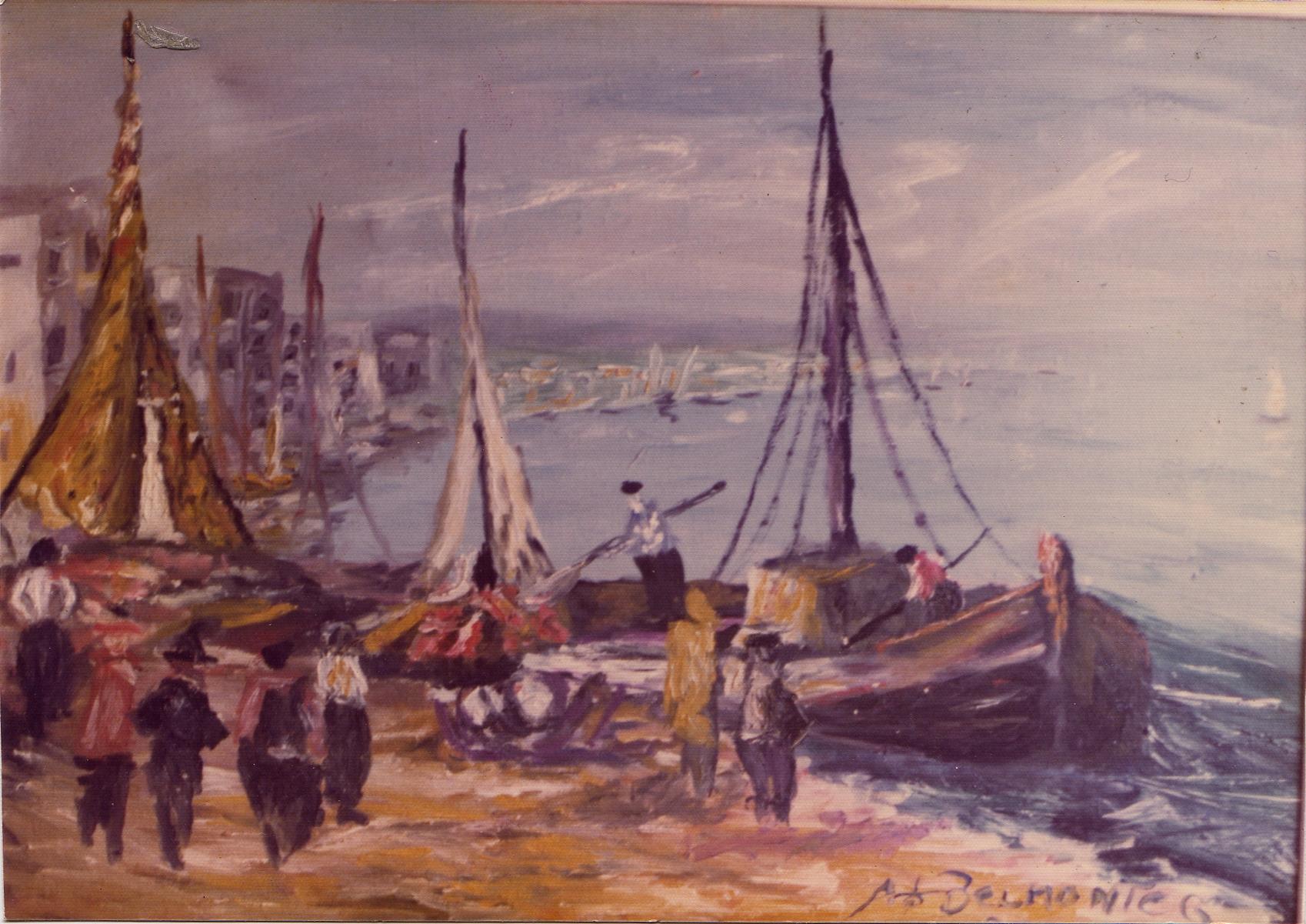 Começou pintura com Palmiro Orlan