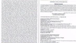 PUBLICAÇÃO DO DIÁRIO OFICIAL DA CONVOCAÇÃO DA AGE DO CRDD/PB.