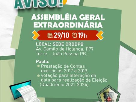 Assembléia Geral Extraordinária CRDD PB