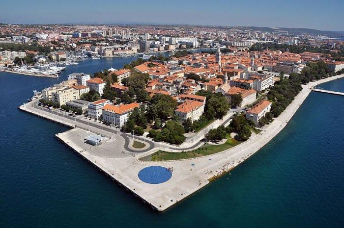 A baía de Zadar