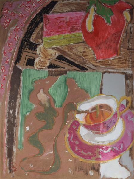 'Reading Caderno de Memórias Coloniais and Sipping a Cup of Tea', 2020