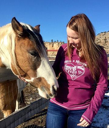 """Hug A Mustang"" Long Sleeve T-Shirt"