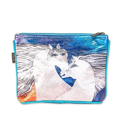 Ivory Mares Cosmetic Bag by Laurel Burch